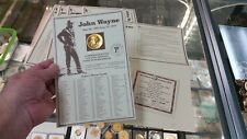 JOHN WAYNE U.S. Mint Commemorative 24 Karat GOLD PLATED MEDAL & # CERT!! L@@K!!