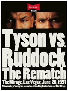 MIKE TYSON vs RAZOR RUDDOCK 8X10 PHOTO BOXING POSTER PICTURE REMATCH