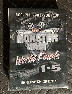 Monster Jam World Finals 1 2 3 4 5 5-disc DVD box Set 2000 2001 2002 2003 2004