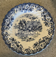 """Johnson Brothers COACHING SCENES-BLUE 6 1/4"""" Bread & Butter Plate"""