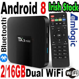 Tx3mini 2/16GB Android Box Dual WiFI 5G Bluetooth Media Player Stream Home Video