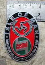Vespa Placca Badge Plakette CASTROL VINTAGE ADS ISLE OF MAN 1958 TT race posters