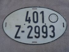 german export license plate 401-Z-2993   license plate