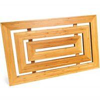 Luxury Natural Bamboo Rectangular Wooden Duck Board Non-Slip for Bathroom Shower