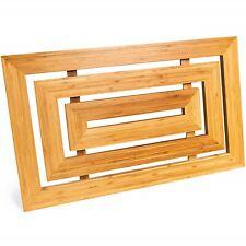 Luxury Rectangular Natural Bamboo Wooden Multipurpose Shower Bath Duck Board for
