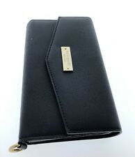 """Kate Spade Black Leather Wristlet Wallet Case For Phone up to 5.7"""" iPhone 8 Plus"""