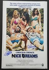 Cheech & Chong Signed Nice Dreams 12x18 Poster Marin Tommy Stoners LEGENDS RAD