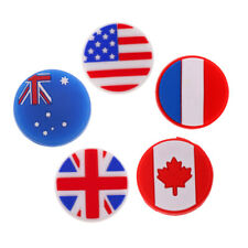 Silicone Tennis Racquet Vibration Dampener Shock Absorber - 5 Mixed Flags