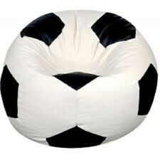 Football Soccer Ball Bean Bag Chairs Cover Indoor Sofa Seat Jumbo Size 100 c.m.