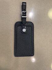 Black Tiffany &Co Leather Luggage Tag