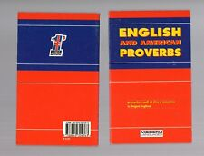 english and american proverbs -- modern publishing house - nuovo -
