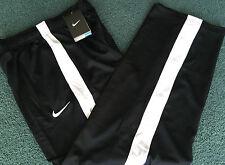 NWT Nike Boys YSM Black/White Side Stripe Micro Mesh Dri-Fit Pants Small