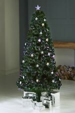 NEW INDOOR FIBRE OPTIC MULTI-COLOUR LED CHRISTMAS XMAS STAR TREE TOP