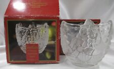 Set of 2 Holiday Christmas Snowy Sweethearts Snowman Gorham Votive Candle Holder