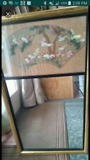 chinese antique rice paper painted mirror