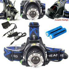 Rechargeable LED Headlamp 900000LM Tactical Headlight+18650Batt+AC&Car Charger