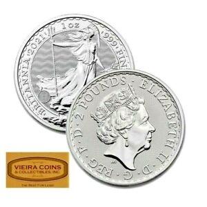 2021 Great Britain 1 oz Silver Britannia £2- Brilliant Uncirculated - #2021NQB