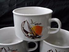 Vintage Mid to Late 1970's Florida Souvenir Soup Mugs