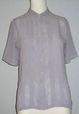 LYRICAL by Katakura Size 9 Purple Short Sleeve Button-Down Blouse