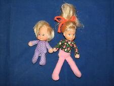 VTG Honey Bunch Dolls Kids Baby by Mattel 1975 Plush Stuffed w Vinyl Heads