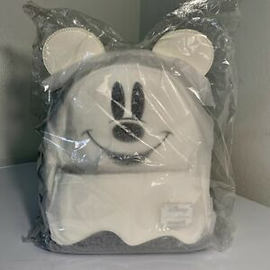 NWT Loungefly Disney Ghost Mickey Mouse Glow in the Dark Mini Backpack Halloween