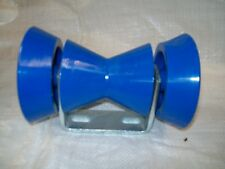 """Boat trailer 4""""Front  Bow Stopper (winch strap) block Blue  pads and bracket"""