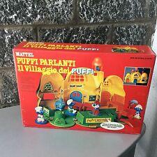 Vintage 1982 MATTEL Magic Talk Smurf Village With Figures  Villaggio Puffi#NIB