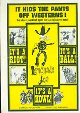 1964 Lemonade Joe  PRESS SHEET  Karel Fiala, Rudolf Deyl Czech western comedy