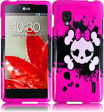 For Sprint LG Optimus G LS970 HARD Protector Case Snap On Phone Cover Pink Skull