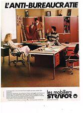 PUBLICITE ADVERTISING  054  1978  STRAFOR  mobilier bureau