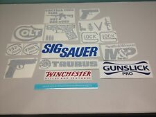 Gun decals (15), hunting vinyl decals, carbine revolver stickers, guns sticker