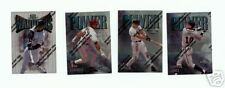 1997 TOPPS FINEST BASEBALL SILVER AND REFRACTOR COLLECTION FIVE 5,BASEBALL CARDS