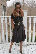Desginer Full length Mink & Russian Sable Fur Vest Coat Jacket stroller  S 0-6