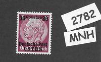 MNH / OSTEN overprint stamp 1940 Hindenburg 30GR German occupation Poland WWII
