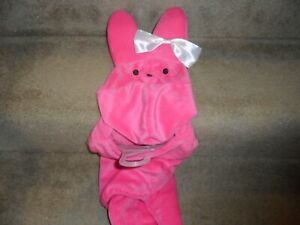 PEEPS Pink Bunny Dog or Cat Pet Costume Halloween  SMALL S   MEDIUM M  LARGE L