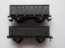 Lot de 2 Wagons tombereaux Hornby pour train de marchandises occasion