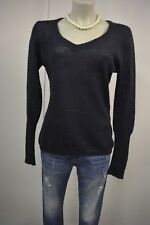 HALLHUBER Damen Strick Pullover  XL 40 Mohair Navyblau leicht transparent