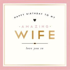 ALICE SCOTT GREETING CARD: HAPPY BIRTHDAY WIFE - NEW POST WORLDWIDE + DAILY