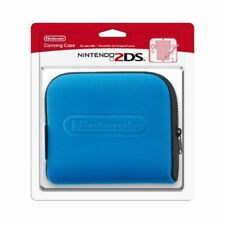 Nintendo 2DS Carrying Case For 3DS Blue Pouch Very Good 6E
