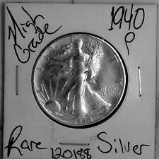 1940 Walking Liberty Silver Half Dollar HIGH Grade Rare US Coin #120188