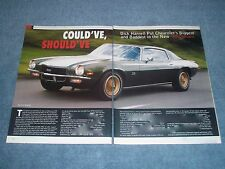 """1970 Dick Harrell Camaro SS 454 Article """"Could've Should've"""""""