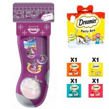 😻 2 x Whiskers & Dreamies - Cat Party Box Selection Bags And Christmas Stocking