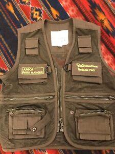 Yellowstone Park Junior Park Ranger Vest - Kids Size M (4-6) Outdoor Fishing