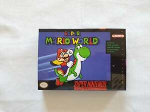 Super Mario World SNES Super NES - Box With Insert - Top Quality