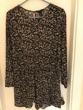 Women's  Floral Romper H&M Brand Size 12 long sleeve