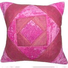 Pink Velvet Cushion Covers Decorative Scatter Pillows Brocade 40cm