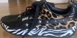 Puma Men's Kiss GV Special Zebra Paul Stanley Shoes 372753-01 Size 7