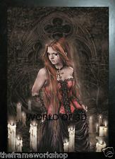 Victoria Frances Enmarcado Negro Rojo Vasco-imagen de fantasía 3D 365mm X 465mm