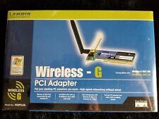 LINKSYS Wireless WiFi G PCI Adapter WMP54G Cisco 2.4 Ghz 802.11g NEW BOX SEALED