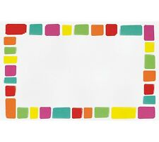 50ct. Multi-Colored Squares Blank Florist Enclosure Cards Small Tags